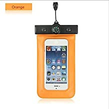 Compass Water Proof Diving Bag For iphone4 4s 5 5s Portable Outdoor WaterProof Pouch ( Color : Orange )