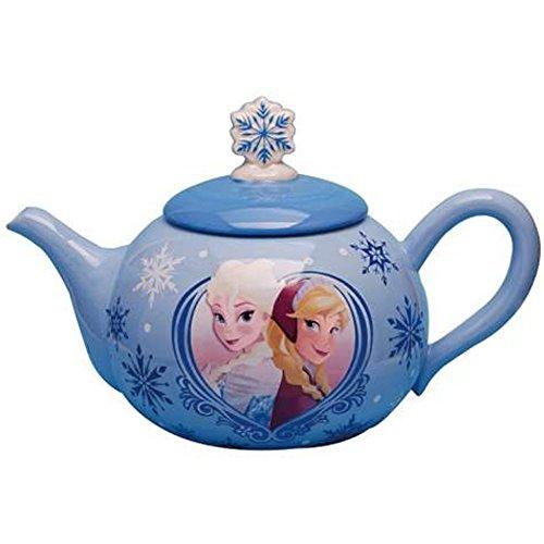 Westland Giftware Ceramic Teapot, Disney Frozen Elsa & Anna, 36 oz, Multicolor