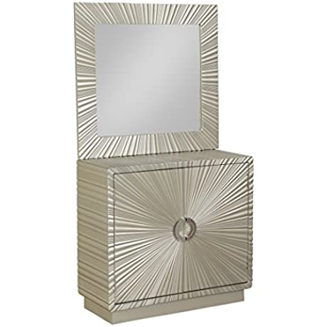 Coast To Coast Wood Cabinets Coast To Coast 13735 Two Door Cabinet And Mirror Set 32 X 30 X 14 Inches Silver Model 13735