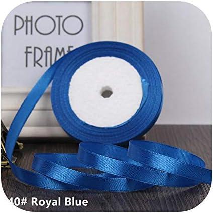 kawayi-桃 25ヤード/ロールグログランサテンリボン結婚式のクリスマスパーティーの装飾6mm-40mm DIY弓クラフトリボンカードギフト-Royal Blue-10mm