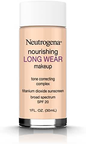 Neutrogena Nourishing Long Wear Liquid Makeup Foundation With Sunscreen, 40 Nude, 1 Fl. Oz.