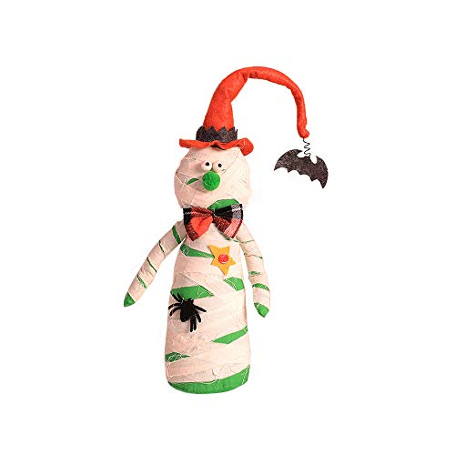 Zhi Jin Halloween Craft Ornaments Dolls Scary Ghost Decorations for Bars Party Nightclub Window Decors Mummy