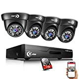 XVIM 8CH 720P Video Security Camera DVR System, 4 HD 1.0MP Indoor