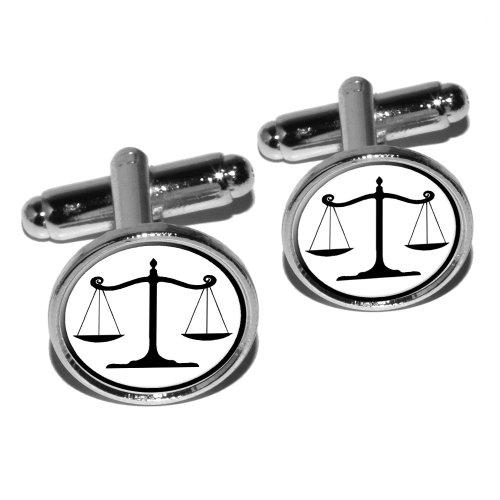 Balanced Scales Justice Symbol Cufflink