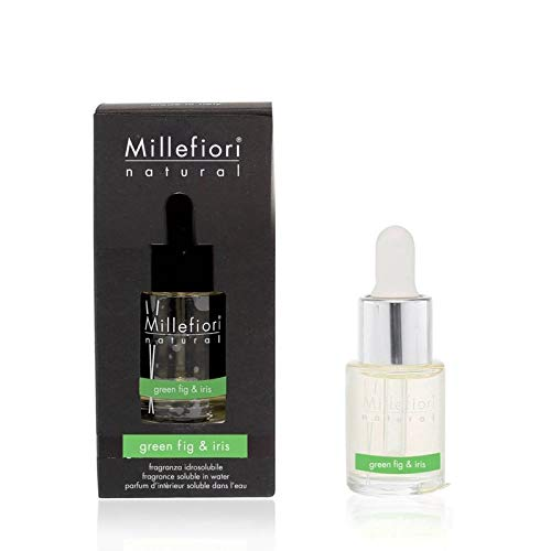 Millefiori Water Soluble Collection Natural Green Fig & Iris 15ml to be Used with Fragrance Diffuser for Hydro ultrasonic Environment