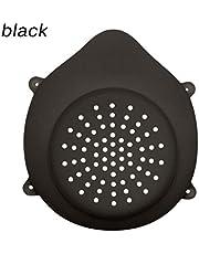 JIekyoi Cubrir de Silicona Facial Cubrir de Polvo, Lavable ReutilizableFiltro reemplazable Algodón Adulta - (1 máscara de Silicona + 10 filtros)