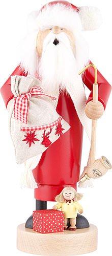 German Incense Smoker Santa with Doll - 25 cm / 10 inch - ()