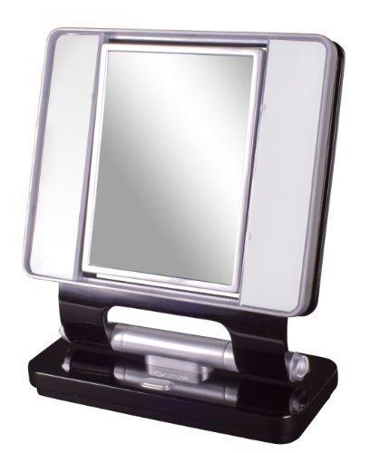 B004DEBRNI Ottlite Natural Daylight Makeup Mirror 5x/1x Magnification 26w Dual Sided- Black 41s5oONZM1L