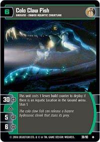 (STAR WARS TCG PHANTOM MENACE COLO CLAW FISH 38U)