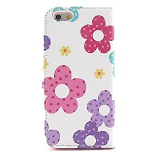 SHOUJIKE Sun Flower Pattern PU Leather Cover with Stand for iPhone 6