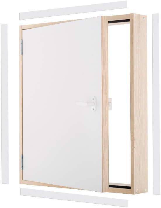 Kniestockt/ür Drempelt/ür EXTRA Ud=0,85 W//m2*K Oman 90x70 Holz Abseitent/ür