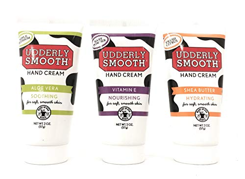 Udderly Smooth Hydrating Hand Cream Variety Pack (1 of each scent), 2 oz. Travel Size Lotion - 3 Pack ()