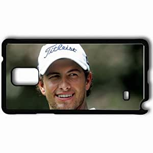 Personalized Samsung Note 4 Cell phone Case/Cover Skin Adam Scott 2013 Sporty Black