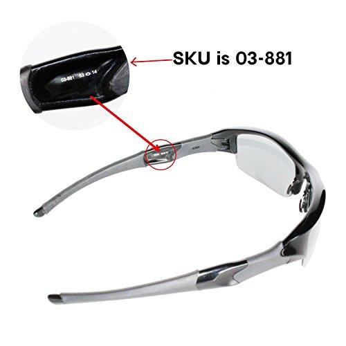 6602e6e872 Walleva Polarized Black Replacement Lenses Oakley Flak Jacket - Import It  All