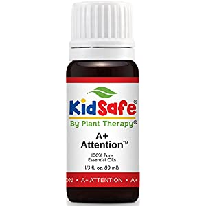 Plant Therapy KidSafe A+ Attention Synergy Essential Oil 10 mL (1/3 oz) 100% Pure, Undiluted, Therapeutic Grade