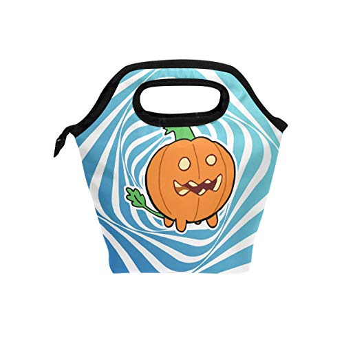 Lunch Tote Bag with Halloween Pumpkin Print- Insulated Reusable Lunch Box, BaLin Thermal Colder Lunchbox for School Work Office for $<!--$16.99-->
