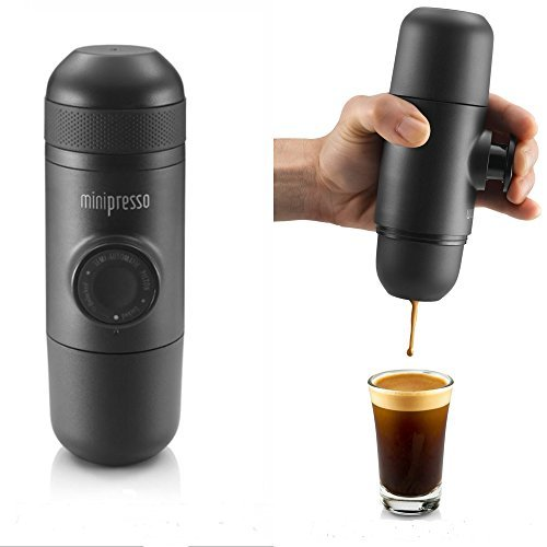 Mini Hand-pump Expresso Coffee Machine For Convenient Hiking and Travel by Wacaco Company (4 Makers High End Coffee)