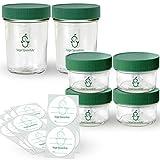 Sage Spoonfuls tarros, Almacenamiento de vidrio a granel, Transparente, Assorted (Pack of 6)