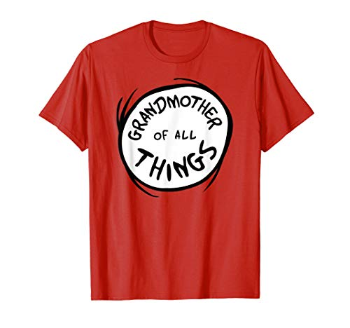 Dr. Seuss Grandmother of all Things Emblem RED T-shirt
