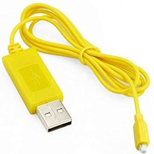 Mini Helicopter Parts - RC Helicopter Syma S107 S105 USB Mini Charger Charging Cable Parts (Yellow, a)