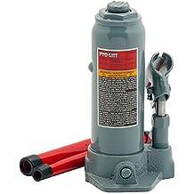 Pro-Lift B-004D Grey Hydraulic Bottle Jack - 4 Ton Capacity (Renewed)