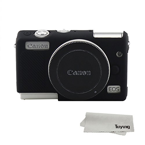 TUYUNG Silicone Camera Case Bag Protective Cover Skin for Canon EOS M100 Digital Camera - Black