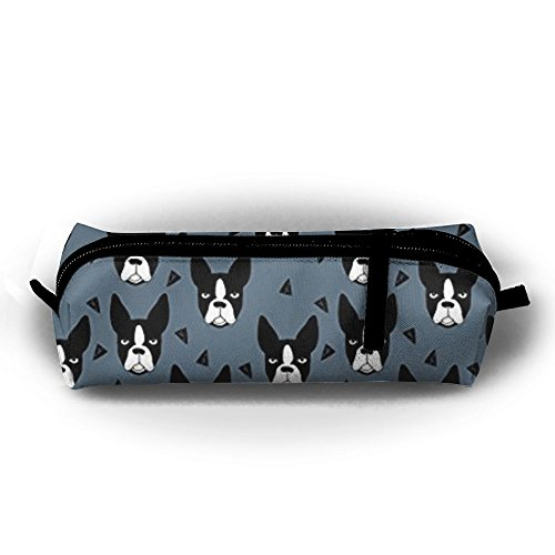 - KIOT156 Boston Terrier Dog Pencil Case Cosmetic Bag Coin Pen Holder Stationery Pouch Zipper Makeup Storage