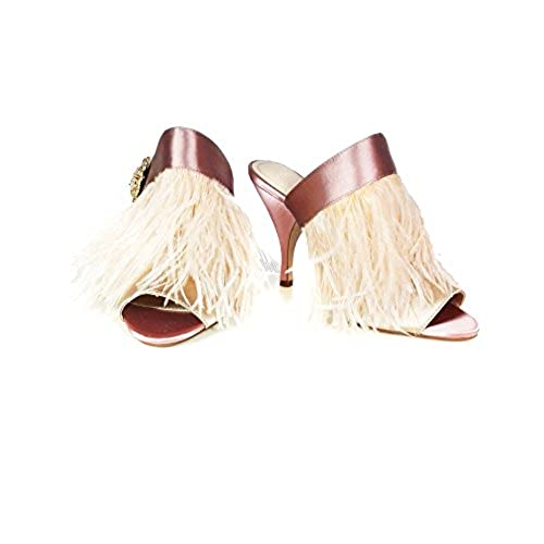 9879b6e5654 80%OFF Zara Women High heel mules with feather and brooch detail 5460 201