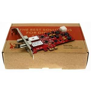 TBS 6981 DVB-S2 PCIe Sat FTA Twin, Low Profile PCI Express Dual HD satellite tuner card