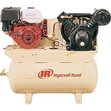 - Ingersoll Rand 25 CFM @ 175 PSI, 13 HP Horizontal Air Compressor with Alternator, Model# 2475F13GH