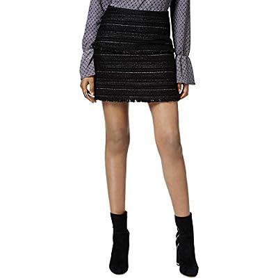 MICHAEL Michael Kors Womens Fringed Textured Mini Skirt