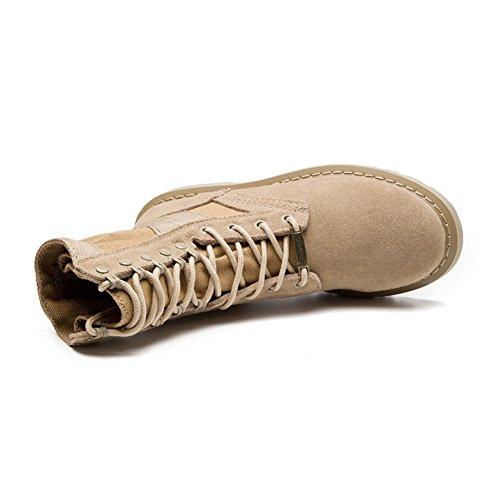 RoseG Leder Bootsschuhe High Top Desert Boots Cowboy Stiefel Für Damen Herren
