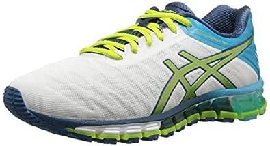 ASICS Women's Gel-Quantum 180 Running Shoe, White/Lime/Turquoise, 6 M US