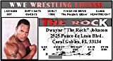 THE Rock WWE Collector Card