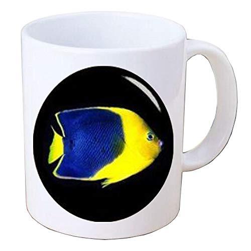 Handmade Tropical Fish Coffee Mug-Silver Coffee Mug-Handcrafted Tropical Fish Jewelry-Tropical Fish Jewelry,BV057