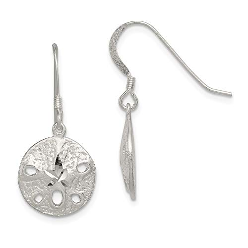 925 Sterling Silver Sand Dollar Sea Star Starfish Drop Dangle Chandelier Earrings Animal Life Fine Jewelry Gifts For Women For Her