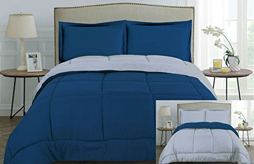 U.S. Polo Assn. 3-Piece Down Alternative Reversible Comforter and Sham (s) Bedding Set – All Season, Hypoallergenic…