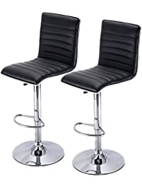 Good IDS HOME Bar Stool With Lift Adjustable Swivel PU Leather Stools  Indoor/Outdoor Home Furniture