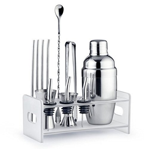 Cocktail Drink Mixes (Edofiy 12-piece Stainless Steel Cocktail Shaker Set-Bar Tool Set With Bar Spoon/Fork,2 Meauring Jiggers,3 Pourers,4 stainless steel straws & Cocktail Recipes-Perfect To Mix Any Drink)