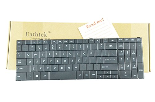 Eathtek Replacement Keyboard for Toshiba satellite C50-B C50D-B C55-B C55D-B C50A-B C55D-B5208 C55-B5302 C55D-B5310 C55-B5299 series Black US Layout