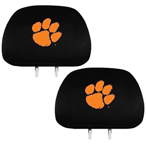 Headrest Cover Official National Collegiate Athletic Association Fan Shop Authentic NCAA Show School Pride Everywhere You Drive (Clemson Tigers)