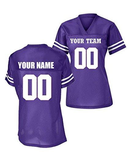 - Sport-Tek Womens Custom Stadium Replica Football Jersey (Purple, Large)