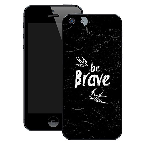 Sei Tapfer | Handgefertigt | iPhone 5 5s | Schwarze Hülle