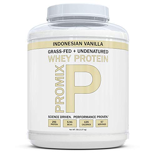 ProMix Nutrition Grass Fed Whey Protein, Vanilla, 5 lb (Best Price Whey Protein Isolate)