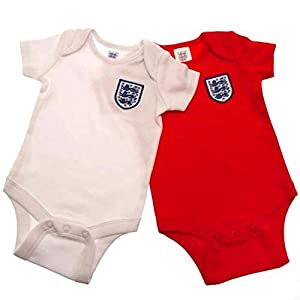 England Football Baby Kit 2 Pack Bodysuits | 2019/20 (12-18 Months)
