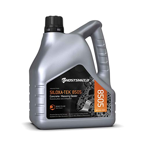 (Siloxa-Tek 8505 Ultra Concentrate - 1 Gallon (Makes 5 GALLONS) Penetrating Concrete Sealer, Water, Salt & Oil Repellent)