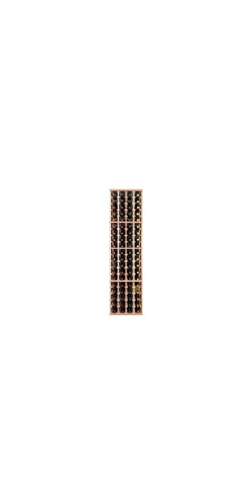 Four Column Wine Rack for Eighty Bottles (Premium Redwood Unstained)