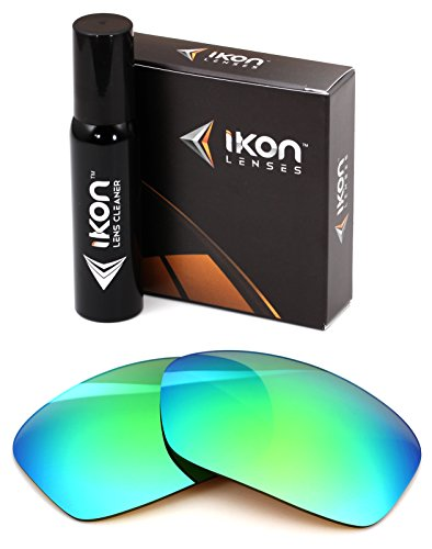 Polarized Ikon Iridium Replacement Lenses for Oakley Turbine Sunglasses - Emerald - Lenses Iridium Emerald