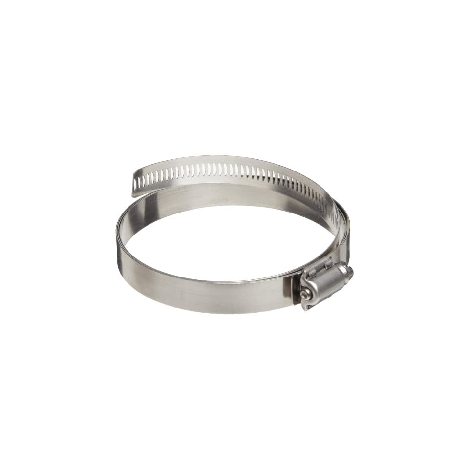 Dixon HSS Series Stainless Steel 300 Worm Gear Hose Clamp, 10 7/8 Min Clamp ID, 13 3/4 Max Clamp ID, 9/16 Band Width, Pack of 10