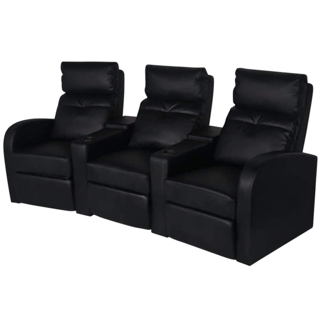 Xinglieu Sofá reclinable de 3 plazas de Piel Artificial ...